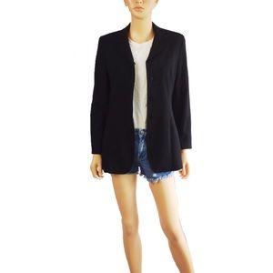 MaxMara Virgin Wool Blend Button Down Blazer